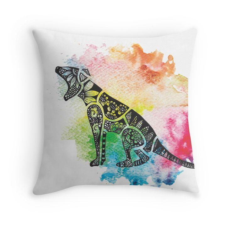 Thylacine over Watercolour