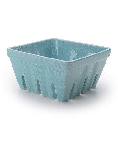 blue stoneware berry basket http://www.zulily.com/invite/tomkatstudio