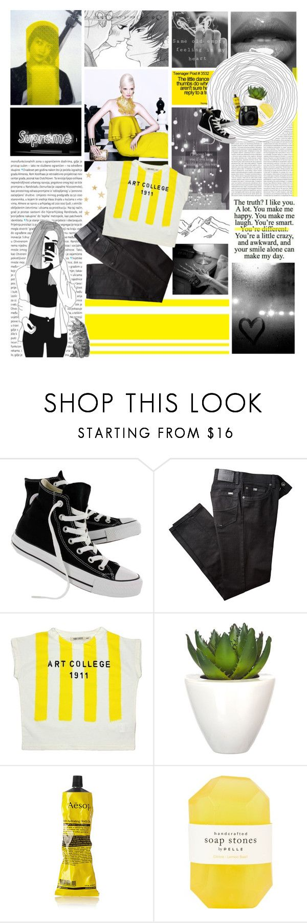 """""""You're Different"""" by dianakhuzatyan ❤ liked on Polyvore featuring Oris, Converse, BRAX, Bobo Choses, Pomax, Aesop, Pelle and Fujifilm"""