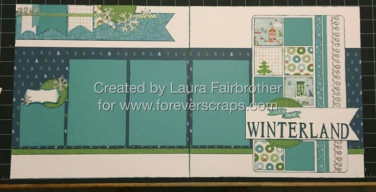 Winter land layout by Laura Fairbrother. CTMH City Sidewalks