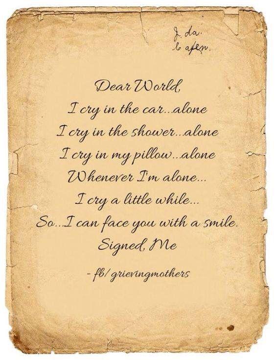 Dear World...