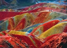 Unbelievable Info: Colourful Rock Formations in the Zhangye Danxia Landform Geological Park, China