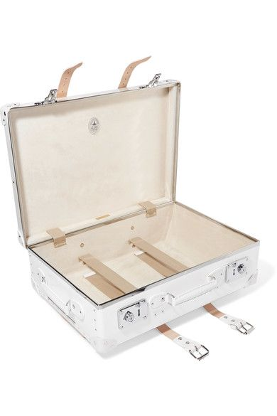 "Globe-Trotter - Pearl 21"" Leather-trimmed Fiberboard Travel Trolley - White - one size"