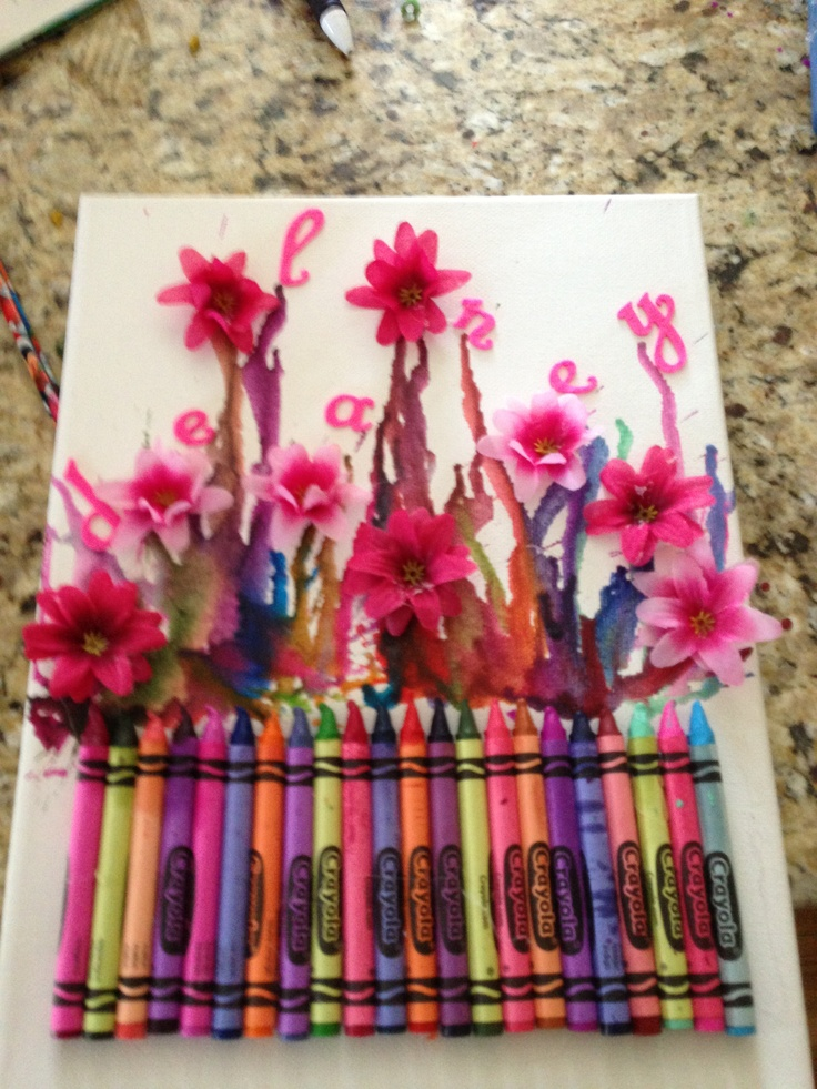 birthday present craft ideas melted crayon craft really s birthday gift 3457