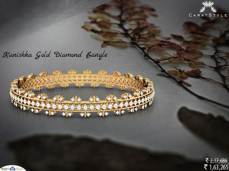 A woman needs ropes and ropes of diamond. Indulge! #bangle #diamond #jewellery…