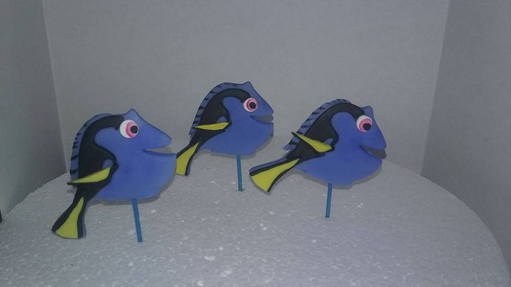 finding Dory inspired cupcakes Decorations by handcraftpartyfavors on Etsy