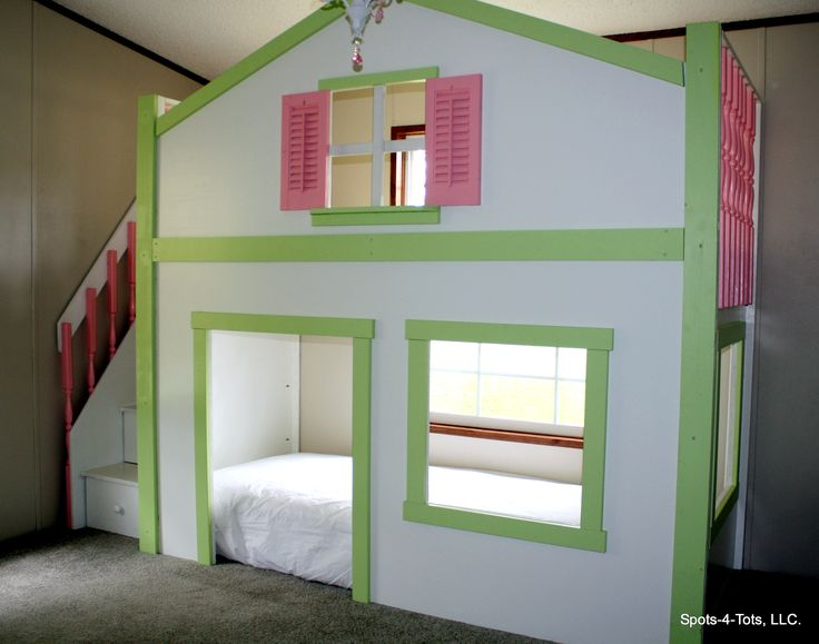 Dollhouse Loft Bed Custom Kids Bedroom Custom Bunk Bed