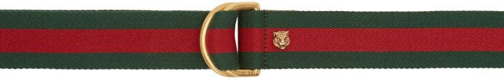 Gucci: Green & Red D-Ring Belt | SSENSE