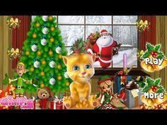 Talking Ginger X Mas Decor - Talking Cat Christmas Game for Kids - http://www.gigglefinger.com/talking-ginger-x-mas-decor-talking-cat-christmas-game-for-kids/