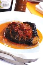 Greek Baked Stuffed Eggplant