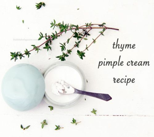Homemade Acne Cream Recipe with Thyme Oil for Clear Skin