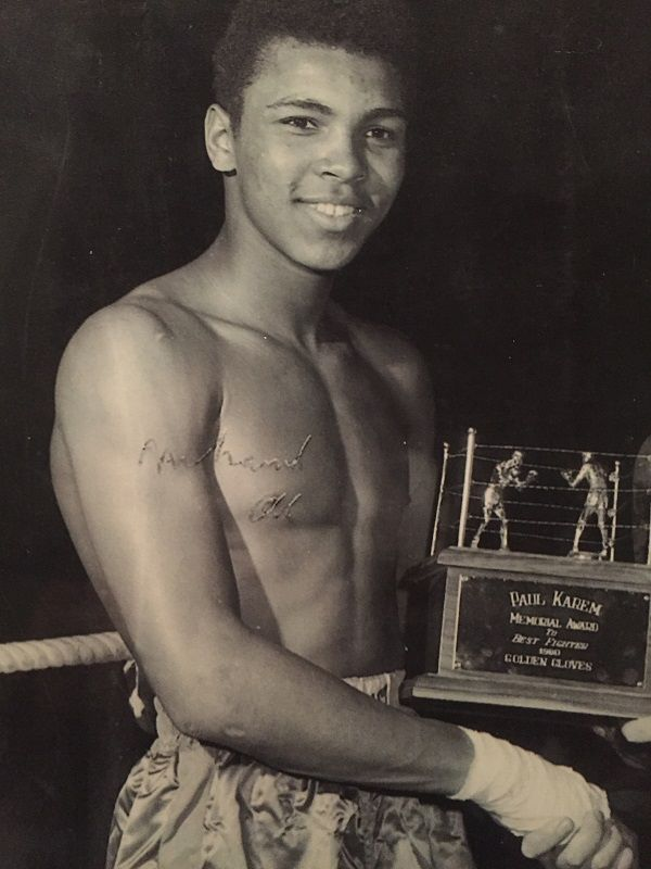 A young Cassius Clay (now Muhammad Ali)