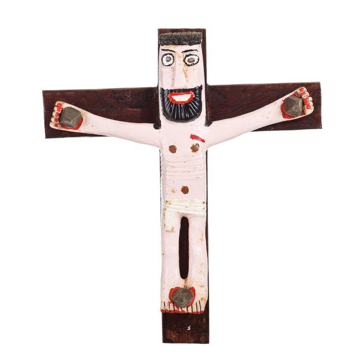"""Cristo"", Joaquim Paiva, 2001, Madeira e tintas"