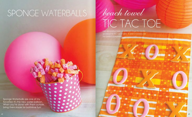 pink and orange party | For more PINK and ORANGE party supplies, visit our shop !