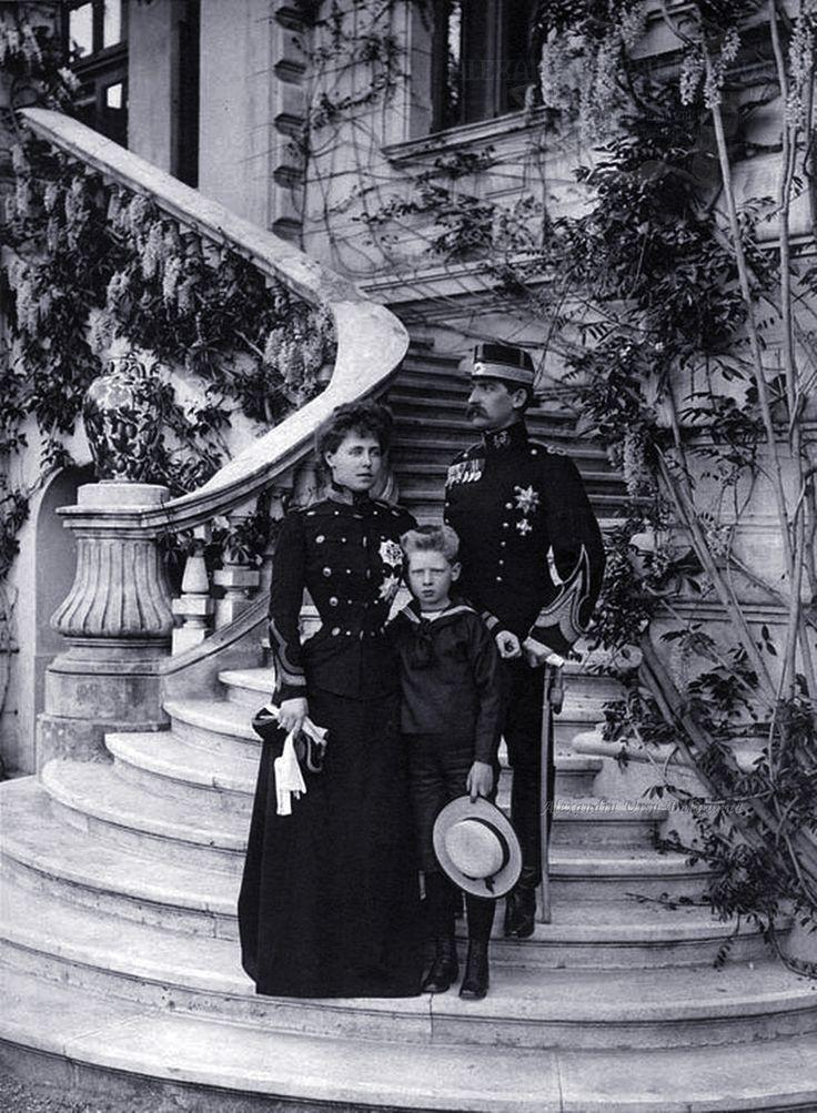 Regina Maria, Prințul Carol și Regele Ferdinand. 1900.