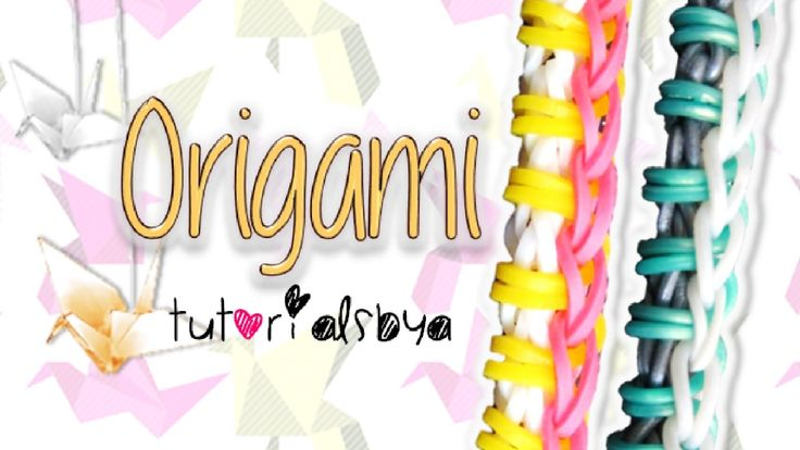 NEW EASY Origami Rainbow Loom Bracelet Tutorial | How To (+afspeellijst)