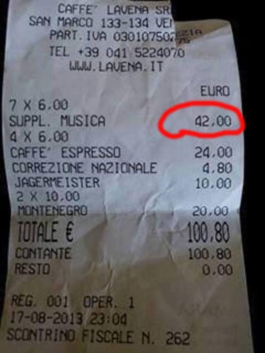 Caffè Lavena a Venezia: 100 € per 4 caffè e musica
