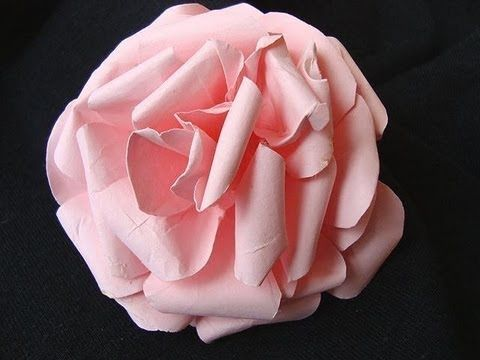 PAPER ROSE from computer paper. YouTube video ... lovely and not really too difficult to make ...