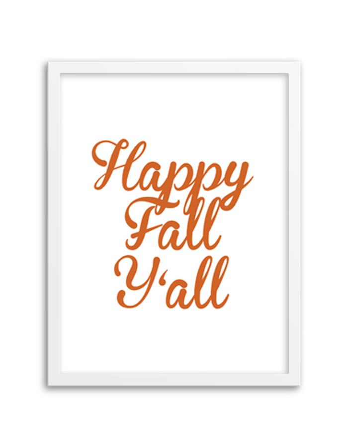 Free Printable Happy Fall Y'all Art from @chicfetti