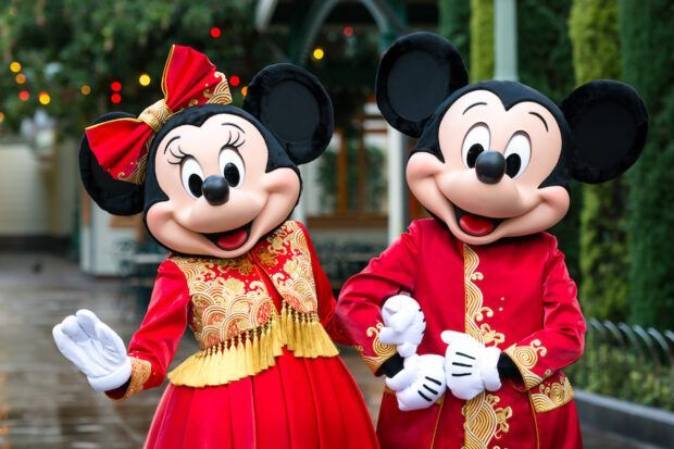 Mickey Mouse And Minnie Mouse Get New Lunar New Year Outfits From Designer Guo Pei Disney California Adventure Park Disney California Adventure Mickey Mouse