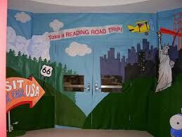 Road trip themed vbs room