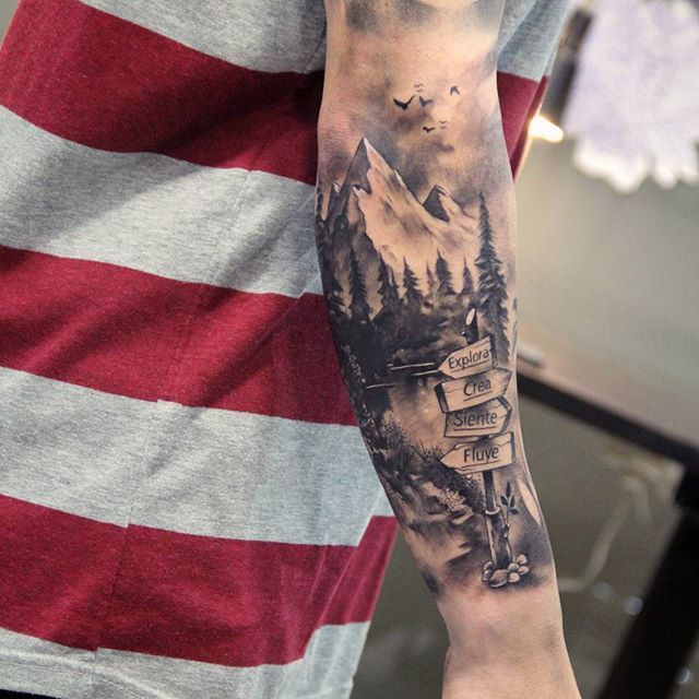 27 Awesome Picturesque Landscape Tattoo Designs: 65 Best Tatto Images On Pinterest