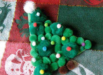 Pom-Pom Christmas Tree Craft: Christmas Crafts for Kids & Decorations - Kaboose.com##