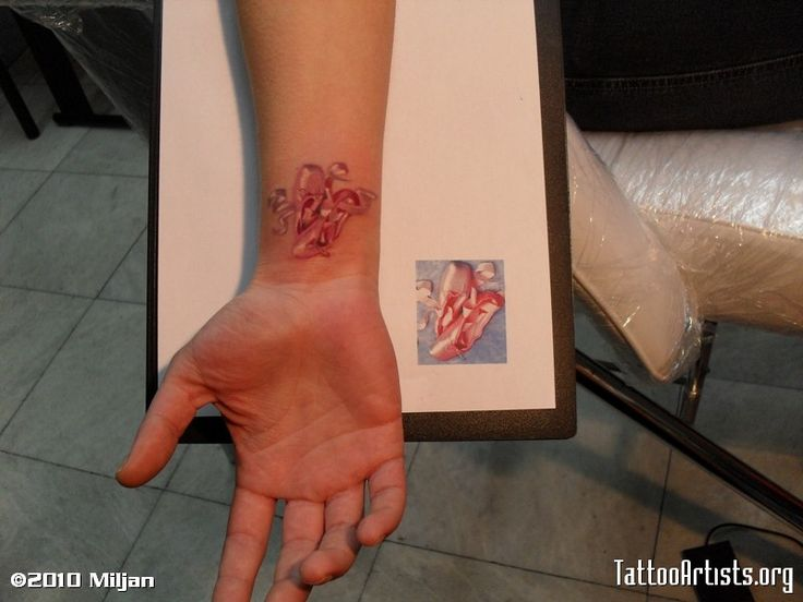 ballet shoes tattoo- for the dancer in us all