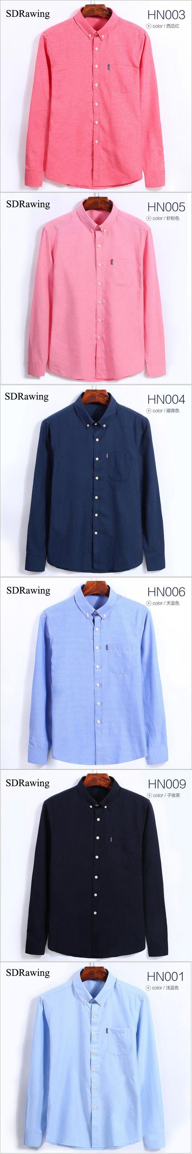 Brand Social Shirts Men Long Sleeve Oxford Shirts Men 2017 Spring Clothing Cotton Blends Business Casual Men Shirts 4XL