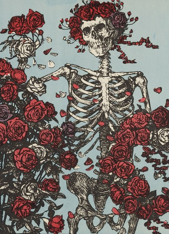 Alton Kelley & Stanley Mouse, Skull and Roses, 1966.