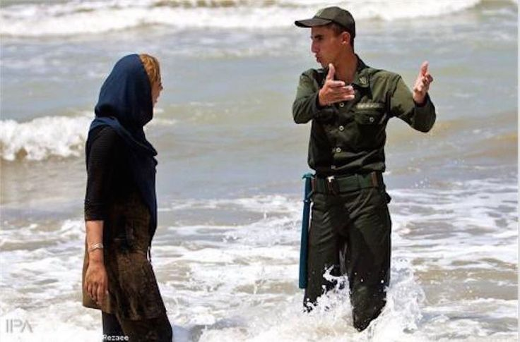 Iran & she is stopped for showing 'too much' hair :( #Burka BurkiniBan #MyStealthyFreedom