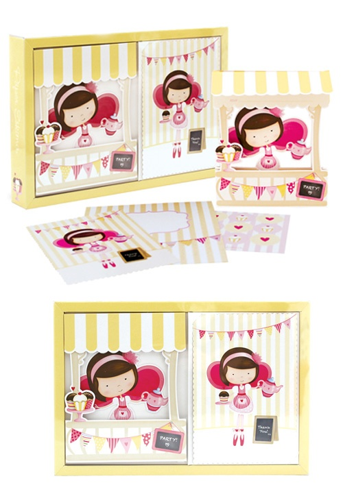 Little miss cupcake Invitation kit - Invites & Thank you's from Paper eskimo available at www.hootinvitations.com.au  #cupcakeparty  #teapartyinvitation  #cupcakeinvitation