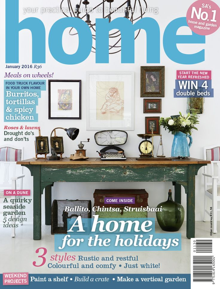 the cover of the january 2016 issue of home magazine featuring the chintsa home of mrs sharon turner designed by design monarchy - Home By Design Magazine