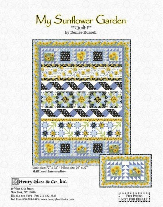 My Sunflower Garden Quilt Kit Henry Glass Sold By The Kit