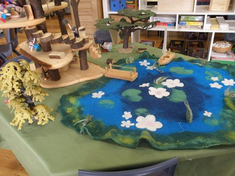 Felted pond - Irresistible Ideas for play based learning » Blog Archive » kallista kindergarten