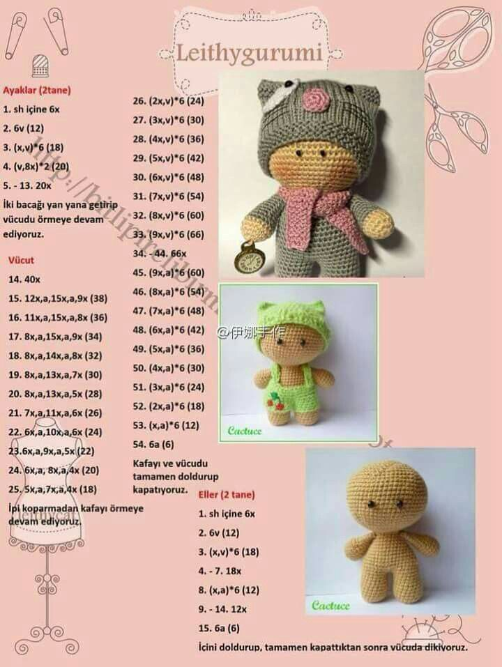 10888 besten Crochet toys Bilder auf Pinterest | Häkeln, Amigurumi ...