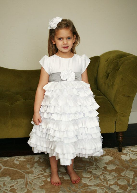 Growing Caroline Dress for Baptism Flower girl by llheron on Etsy