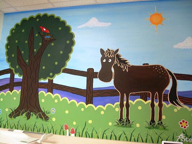 Pediatric Horse Mural By Beth Stone Www Bethstonestudio