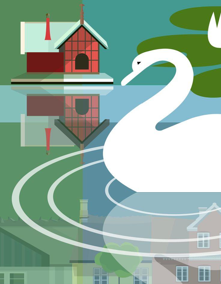 Sankt Jørgensbjerg - cute duck pond housing