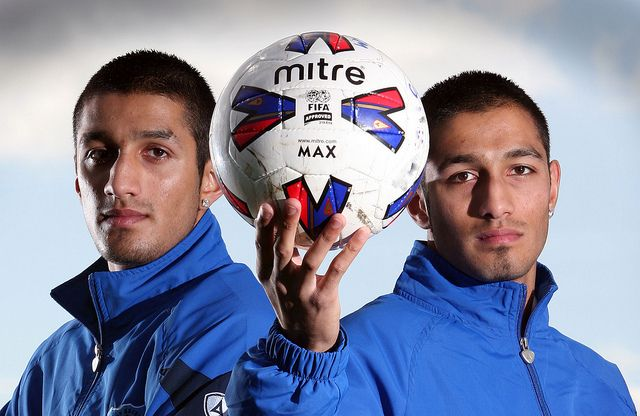 Identical twins Amar and Arjunmay  Purewal playing non-league but have already made their mark on the game and the history books.  Back in 2008, they both ended up on the score sheet for Bishop Auckland FC against Darlington RA in an FA Cup match and then a year later, repeated the feat, this time against Hall Road Rangers.  According to the record books, this is the first time twins have scored in the same match in successive seasons.