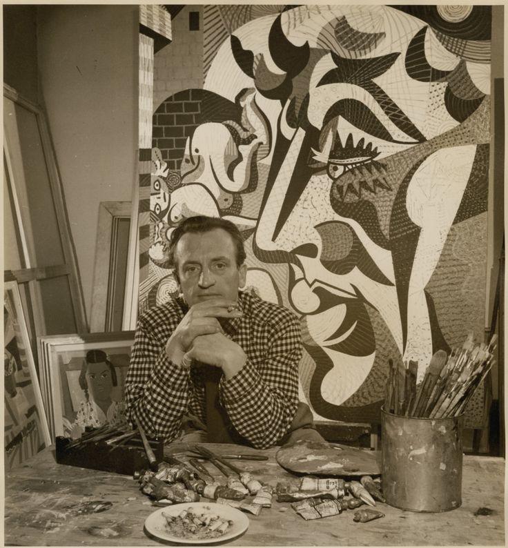 Portrait d'Alfred Pellan par le photographe André Le Coz, 1968