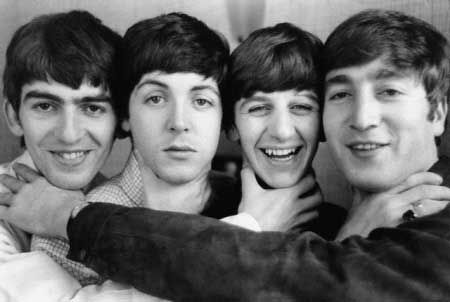 George Harrison, Paul McCartney, Richard Starkey, and John Lennon