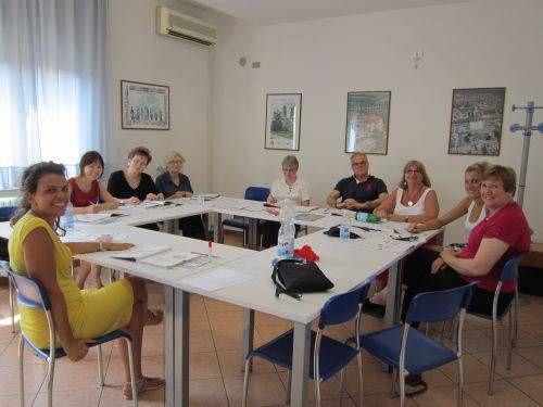 Gli studenti in classe