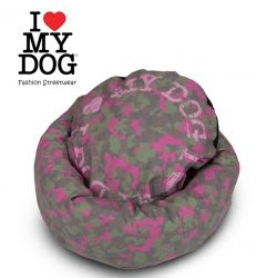 I Love My Dog Bed  Camu Ciambella Pink