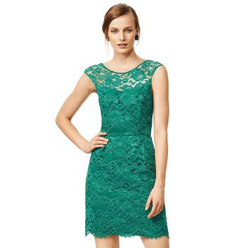 O-Neck Sleeveless Slim Lace Dress