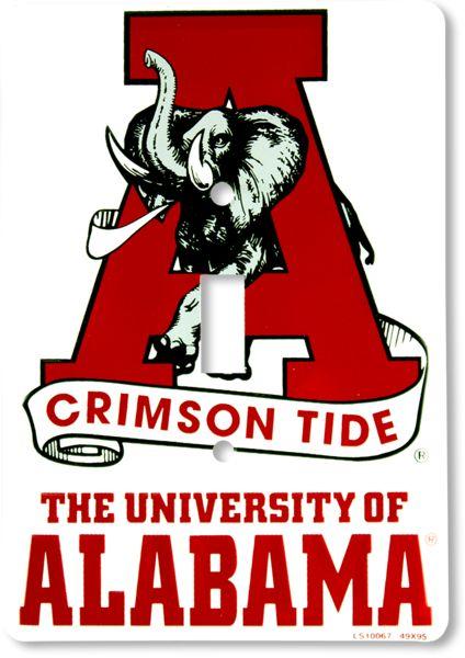 Alabama Crimson Tide Light Switch