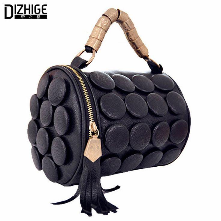 2016 Summer Luxury Tasel Button Women Shoulder Mini Bags Famous Brand Pu Leather Cartera Hombre Bucket Bag Bolsos De Mano