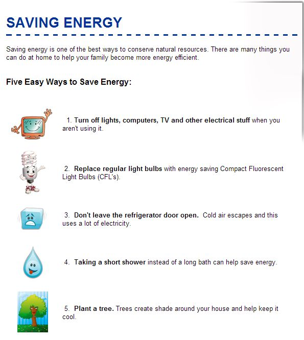 5 easy ways to save energy for kids scouting pinterest for Fastest way to save for a house