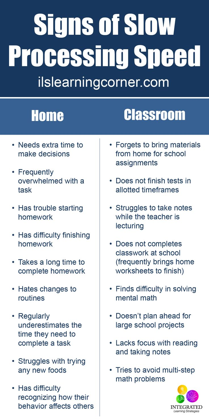 Processing Speed: Why Slow Processing Speed Makes Simple Tasks Daunting for Kids | ilslearningcorner.com