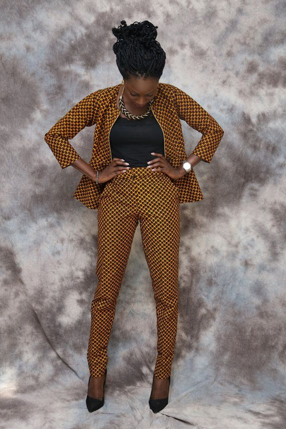 African print top and pants set , african clothing, african dress, the african…